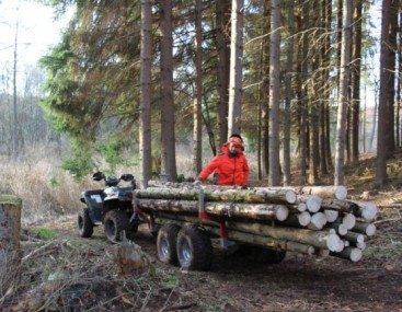 ATV - Kleintraktor Forstanhänger
