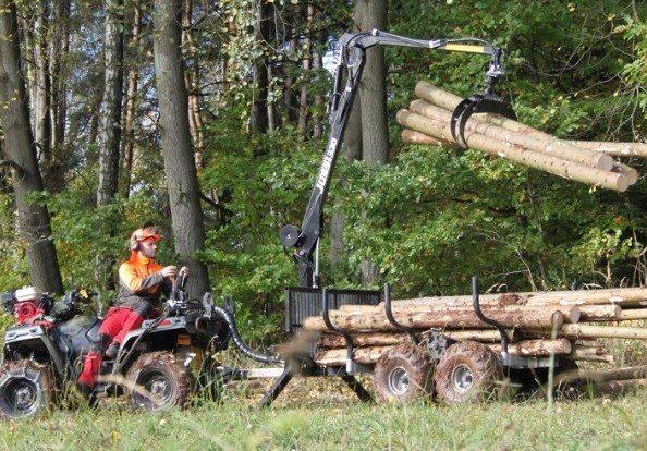 ATV Holzanhänger