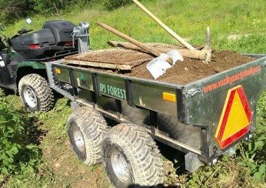 ATV Anhänger mit Arbeits - Quad